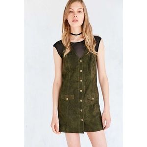 Cooperative Dresses - UO Cooperative Paulina Suede Button-Down Dress